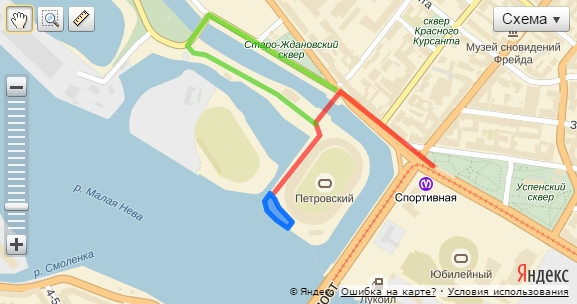 Схема проезда к площадке Спортивная